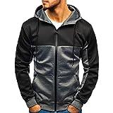 Sunnywill Herren Herbst Outwear Sweatjacke Winterjacke Windbreaker Neuer Patchwork Slim Outwear Zipper