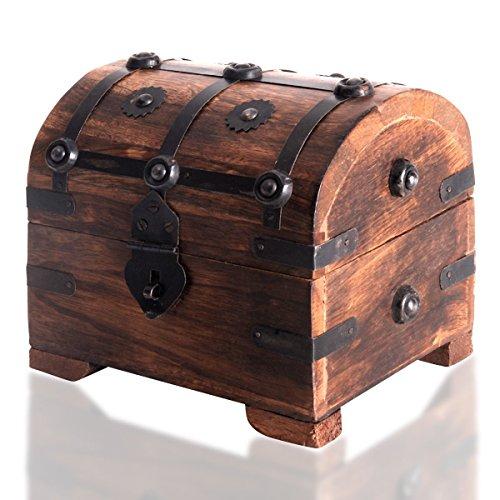 Caja de madera de BRYNNBERG | Cofre del tesoro pirata de estilo vintag