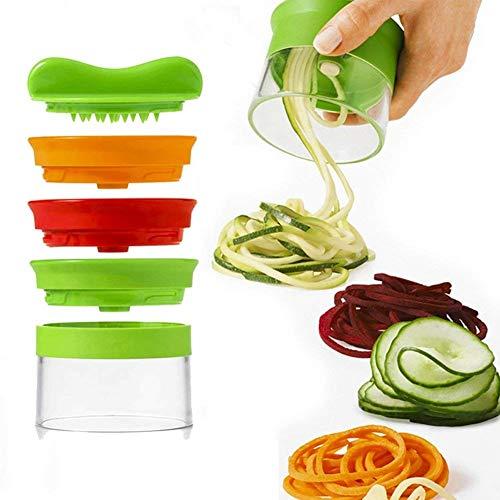 AYUTOY Cortador de Verduras Cortador de Verduras Frutas en Espiral Pelador y Rallador de Verduras con 3 Cuchillas para Cortador de Pepinos Rallador