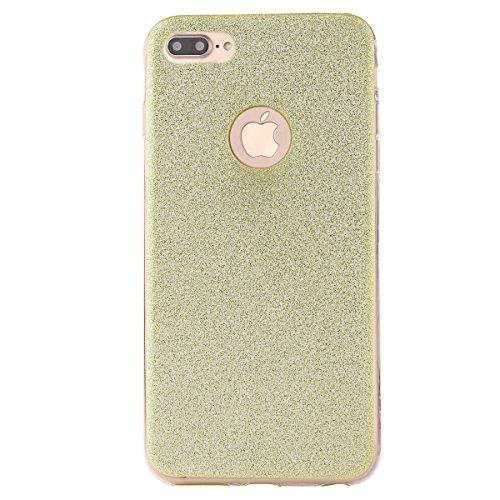 "iPhone 7Plus Handyhülle, iPhone 7Plus Tasche, CLTPY Elegante Sparkly Series Slim Fit Silikon Cover, Kreativ Bling Diamant Bowknot Design Abdeckung für 5.5"" Apple iPhone 7Plus (Nicht iPhone 7) + 1 x St Grün"