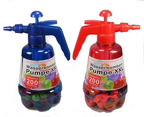 Wasserballonpumpe Water Bomb Wasserbomben inkl. Wasserballons 200 Stück