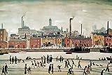 LS Lowry Art Print, Northern River Scene (52 x 70cm Art Prints/Posters)