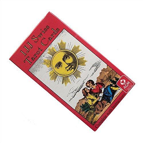Baraja 1JJ Swiss Tarot por Stuart R Kaplan, Mazo de 78 Cartas con Inst