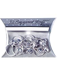 Amscan International Favour Engagement Rings, Pack of 12