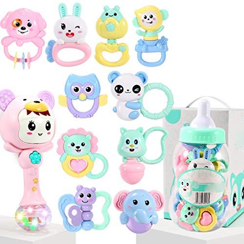 WYNZYSGWJ Kann Beißen Gekochte Beißring Rassel, Baby Toy Puzzle Baby 0-1 3-6-12 Monate Beißring Rassel (Farbe : B)