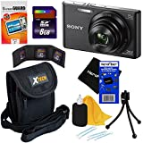Sony Cyber-shot DSC-W830 20.1 MP Digital Camera With 8x Optical Zoom And Full HD 720p Video (Black) - International Version + 7pc Bundle 8GB Accessory Kit W/ HeroFiber Ultra Gentle Cleaning Cloth