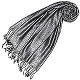 LORENZO CANA High End Luxus Pashmina 70% Seide 30% Viskose mit Krawattenmuster Schaltuch 70 x 190 cm zweifarbig Schal Stola Damenschal Damen 78429