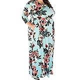 Sommerkleid Damen Lang große Größen mit Ärmel Schwarz für Mollige Abendkleid Übergröße Partykleider Cocktail Kleider Sommerkleid Grün Maxikleid