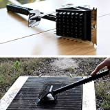 BoCoMo Barbecue Grill Stainless Steel BBQ Brush Scraper Copper Wire Brush Grill Barbecue Accessories Cleaning Tool