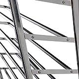 Generic ukyc150625–026< 1& 3870* 1> Rolling Speicher oder Stauraum 50Paar 10Organizer Tower Etagen Schuhregal Chrom Räder Rollen 50Paar 10