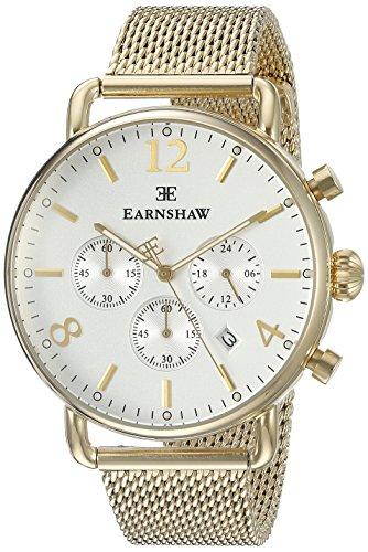 Thomas Earnshaw–ES-8001de Homme–22Investigator affichage analogique à quartz japonais montre or