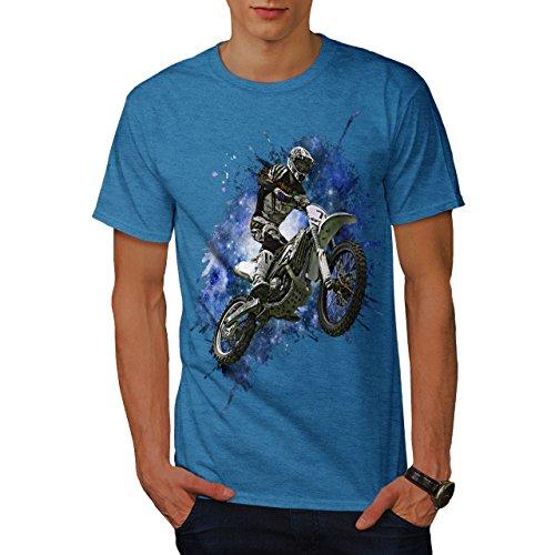 Motocross T-shirts (Moto-Cross Fahrrad Sport Auto Himmel Jumper Herren L T-shirt | Wellcoda)