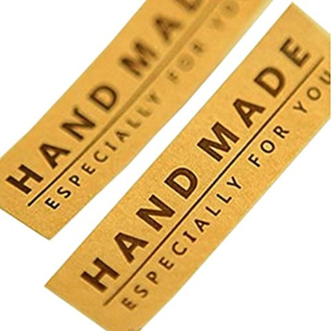 Hand Made Especially for you Brown Kraft Sticker for Baking Chocolate Gift Packaging, Pack of 100