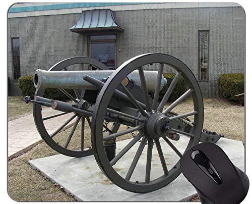 Mausunterlagen Besonders angefertigt, Gewehr-Munitions-Kanonen-Mausunterlage mit genähtem Rand
