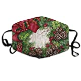 SDGSS Mund Maske,Merry-Christmas Pattern Mund MaskesUnisex Fashion Warm Anti-Dust Washable Reusable Mund Maske