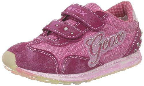 Geox J Eliott C, Baskets mode filles Rose (C8002)