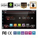 Mejor WiFi modelo 6.0 Android Quad-Core 6.95 Full pantalla táctil universal de coche DVD reproductor de CD GPS 2 DIN estéreo GPS navegación libre cámara