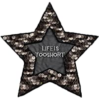 Toruiwa 1X Parches de Estrellas para Ropa Parches termoadhesivos Lentejuelas Parches de decoración DIY Parches Bordados Ropa de Sombrero suéter Vestido de decoración 23 * 22cm