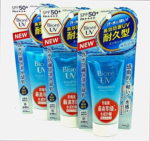 Protections solaire Kao Bioré UV aqua rich, lot de 3. (50 ml)