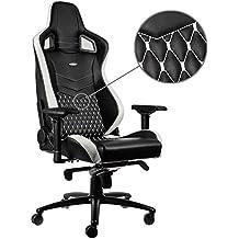 noblechairs EPIC Echtleder Gaming Stuhl - schwarz/weiß/rot