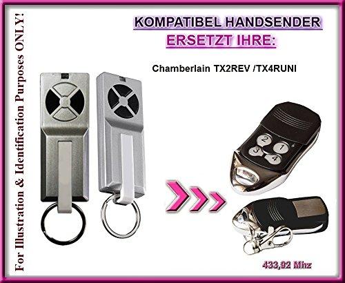 Chamberlain TX2REV / Chamberlain TX4RUNI kompatibel handsender,