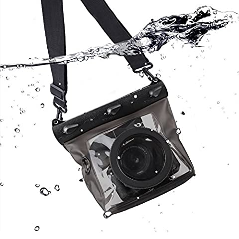 Meiwo 20m DSLR Underwater Universal Waterproof Housing Case Waterproof Camera Case Bag Designed for Outdoor / Underwater Activities, Compatible for Canon / Nikon / Fuji / Pentax / Samsung / SONY / Panasonic and Other Brands
