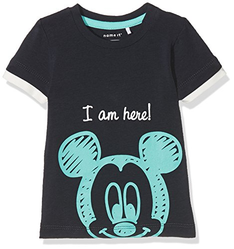 NAME IT NAME IT Baby-Jungen T-Shirt NBMMICKEY OTTO SS TOP WDI Blau (Dark Sapphire) 56