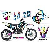 Kawasaki KX 85 Motocross Graphic Kit (2003) - Flashback: Pink - Blue - Yellow - AMR Racing