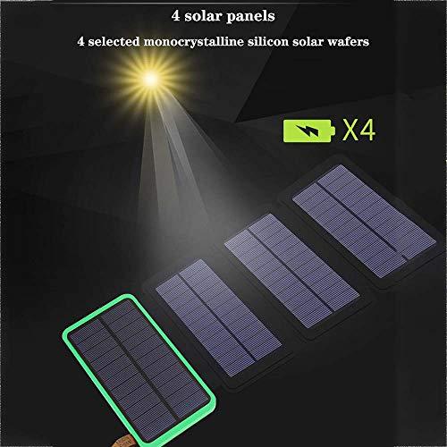 4 paneles solaresPuede absorber más luz solar a través de los 4 paneles solares, lo que significa que la luz solar puede recargarla 4-6 veces más rápido que otros cargadores solares. Energía solar utilizada como principal método de carga para activid...