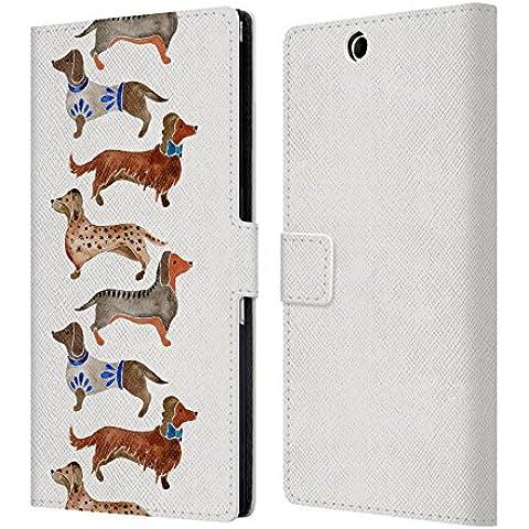 Ufficiale Cat Coquillette Bassotti Animali Cover a portafoglio in pelle per Sony Xperia Z Ultra / C6802