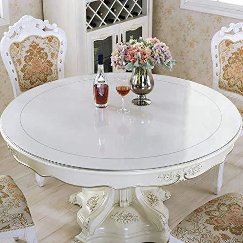 Lxp tovaglia tovaglia da tavola rotonda trasparente copritavola rotondo in pvc cuscinetto di gomma del tavolo da pranzo della famiglia, 7 taglie (colore : diameter 100cm)
