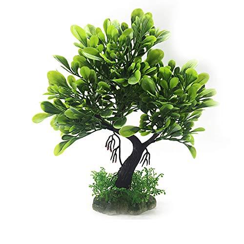 Xiton Künstliche Pflanzen Aquarium Aquascaping Tank Dekor Kunststoff-Pflanzen FischBehälter Dekorationen lebendige Simulation Pflanzen Kreatur Aquarium Landschaft-grün