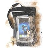 """PRESKIN - Wasserfeste Tasche bis 4.5"""" Zoll Display, Wasserdichte Smartphone Schutzhülle / Handy Hülle (Beachbag4.5""""Black) mit Touchscreen Funktion wie Schutzfolie / Displayfolie, Waterproof / water resistant mobile bag / pouch / case für Samsung, Motorola, Sony, Nokia, LG, Huawei, Apple iPhone 5S, 5C, 5, 4S, 4, HTC (Beachbag4.5""""Black)"""