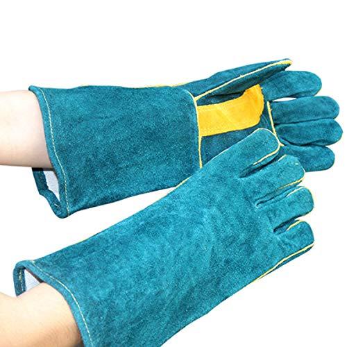 Guanto guanti per saldatura, guanti protettivi per la lavorazione della pelle guanti per barbecue a microonde, resistenti alle alte temperature guanti generici resistenti all'usura 2 paia