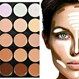 fitTek Paleta Corrector Camuflaje 15 Colore Base Maquillaje Crema