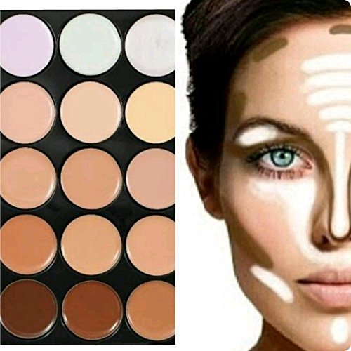 Boolavard TM Makeup Palette 15 Shades Concealer and Foundation