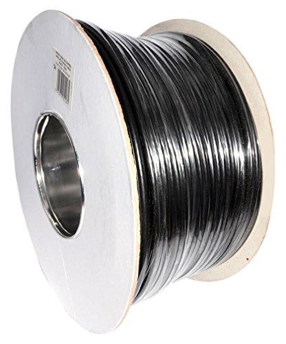 Antennen Satelliten und Kabel 100m 4K Ready RG6Digitales Koaxialkabel für Fernseher, Schwarz (Black Kabel Rg6)