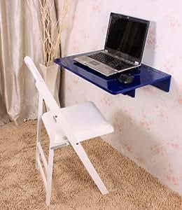 Table murale rabattable en bois, table de cuisine table pour les enfants,60×40cm couleur bleue So-FWT03-B
