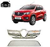 Trigcars Renault Kwid Car Front Grill Chrome Plated