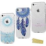 3x Funda iPhone 7 Carcasa Silicona - Mavis's Diary Case Delgado TPU Goma Gel Flexible Cover Protector Dibujo Atrapasueños