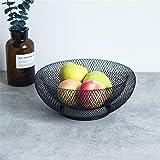 Obstkorb, Obstschalen, große Kapazität | Elegante Art Innovative Doppelschicht Eisen Kunst Obstkorb Schüssel
