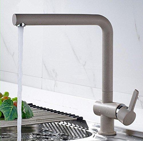 GZD cucina calda e fredda rubinetto di rame lavandino rubinetto