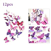 UK DEALS 12pcs 3D Colorful Butterfly Wall Stickers DIY Crafts Art Decor Vivid Butterflies Stickers For Nursery Room Classroom Office Kids Baby Room Bedroom Living Room by TheBigThumb