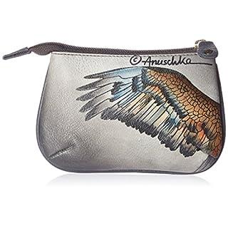 Anuschka handgemalte Leder, Damenbörse, Damenkupplung, Geldbörse der Frauen- Münzenbeutel ( American Eagle 1107 AME)