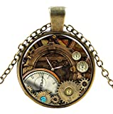 Ultra ® Watch engrenages style Classic unisexe steampunk collier grand style unisexe gothique cosplay Vintage Cyber hommes femmes bijoux cosplay crânes rouages designs
