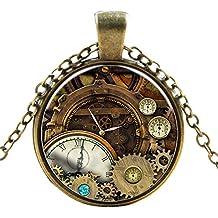 Ultra® orologio Cogs stile classico Collana Steampunk Unisex grande stile