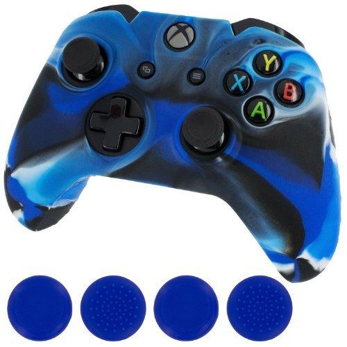 generic-new-silicone-cover-case-skin-controller-grip-stick-caps-for-xbox-onecamo-blue-color-camo-blu