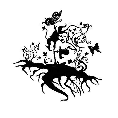 Göttin Halloween - Halloween-Baum wurzelt Göttin-Hintergrund-Dekorations-Aufkleber entfernt