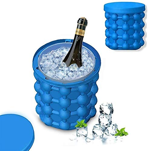 RJ MART Silicone Ice Cube Maker   The Innovation Space Saving Ice Cube Maker   Bucket Revolutionary Space Saving Ice-Ball Makers for Home, Party and Picnic