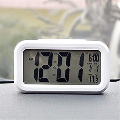 Les formulaires électroniques de l'automobile/horloge électronique/écran LCD LED Glow-in-the-clock/matériaux automobile, blanc